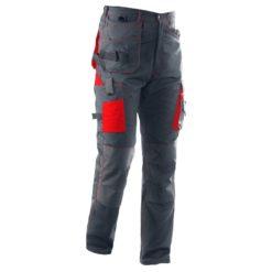 Spodnie robocze do pasa Seven Kings Quartz Monterskie mocne wzmacniane spodnie ochronne do pracy bhp ciuchy robocze stalowe szare grafitowe czerwone