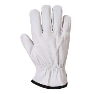 Rękawice skórzane Portwest A260 Oves Driver Owcza Skóra rękawiczki robocze bhp skórkowe białe delikatne miękkie strona wierzchnia