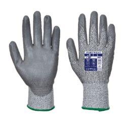 rękawice antyprzecięciowe portwest a622 5 kategoria przecięcie przekłucie rozdarcie mocne rękawiczki do pracy bhp szare powleczone poliuretanem obie