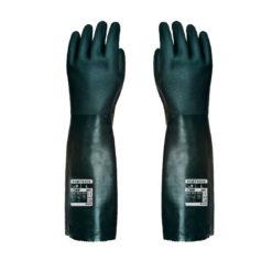 Rękawice Chemoodporne Portwest A845 Podwójne PVC 45 cm chemiczne antychemiczne rękawiczki długie ług sodowy zielone