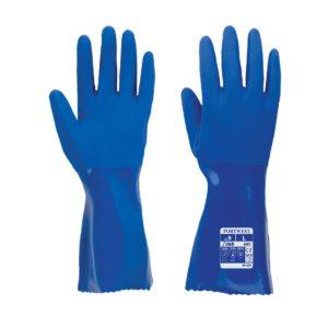 Rękawice Robocze Rybackie Portwest A880 rybackie rękawice robocze gumowe odporne na chemie spożywcze wodoodporne rękawiczki bhp niebieskie