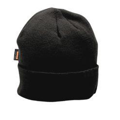 Czapka z ociepleniem Insulatex Portwest B013 Jesień/Zima czapka zimowa jesienna ciepła dziana dzianinowa wciągana czarna