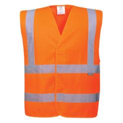 Kamizelka ostrzegawcza PORTWEST C470 pomarańczowa EN ISO 20471 klasa 2 robocza kamizelka odblaskowa hv prżód