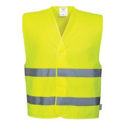Kamizelka ostrzegawcza PORTWEST C474 żółta EN ISO 20471 klasa 2 robocza kamizelka odblaskowa hv prżód