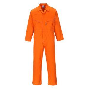Kombinezon roboczy PORTWEST Liverpool C813 Pomarańczowy ochronny roboczy kombinezon jednoczęściowy pomarańczowy 8 kieszeni przemysłowy