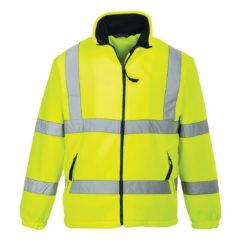 Bluza polarowa ostrzegawcza PORTWEST F300 Żółta robocza bluza polarowa ochronna hv 3 klasa widoczności drogowa przód