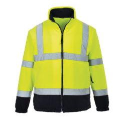 Bluza polarowa ostrzegawcza PORTWEST F301 Żółto-Granatowa odblaskowa drogowa ochronna polar ciepły z kontrastem