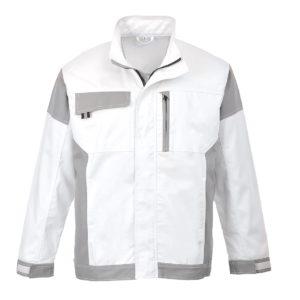 Bluza robocza malarska PORTWEST Craft KS55 Biała Painters Pro bluza robocza dla malarza tynkarza gipsowanie wzmocnienia klasyczna ochronna biało szara