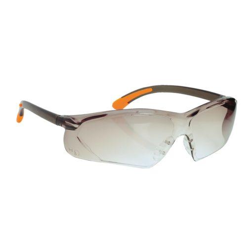 Okulary ochronne Portwest Fossa PW15 EN160 1F okulary bhp do pracy przeciw odpryskowe mocne poliwęglan przydymione