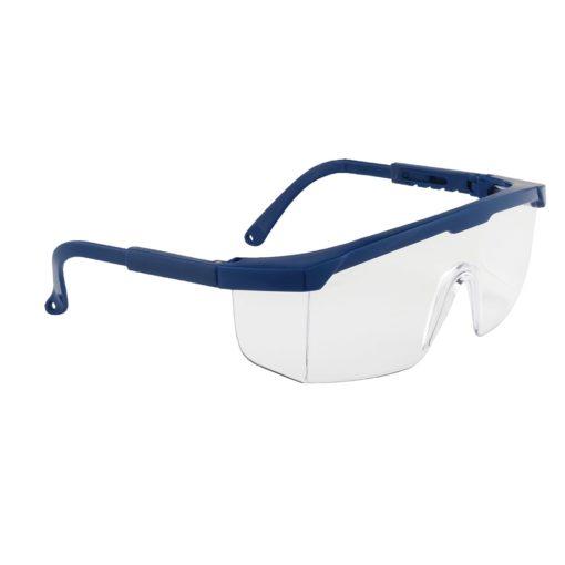 Klasyczne okulary ochronne Portwest PW33 okulary bhp gogle filtr uv bezpieczne przeciwodpryskowe do pracy przezroczyste czarne niebieskie