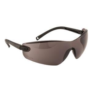 Okulary ochronne Portwest Pan View PW38 1 F Czarne okulary bhp do pracy przeciwodpryskowe ciemne wygodne