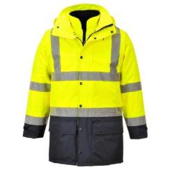 Kurtka Ostrzegawcza 5 w 1 Portwest S768 Executive do pracy modułowa kurtka całoroczna ocieplana bhp ochronna odlaskowa wodoodporna przeciwdeszczowa cały zestaw żółto granatowa