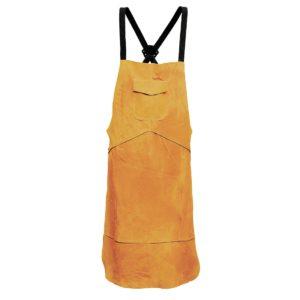 skórzany fartuch spawalniczy Portwest sw10 do spawania ochrona spawacza ubiór trudnopalny jasnobrązowy