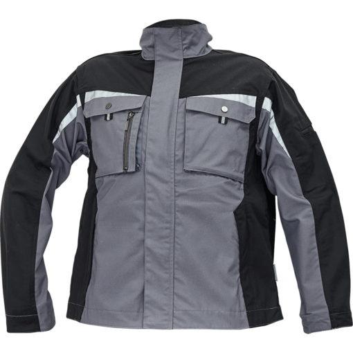 kurtka robocza allyn z odblaskami 3m do pracy ochronna. szaro czarna