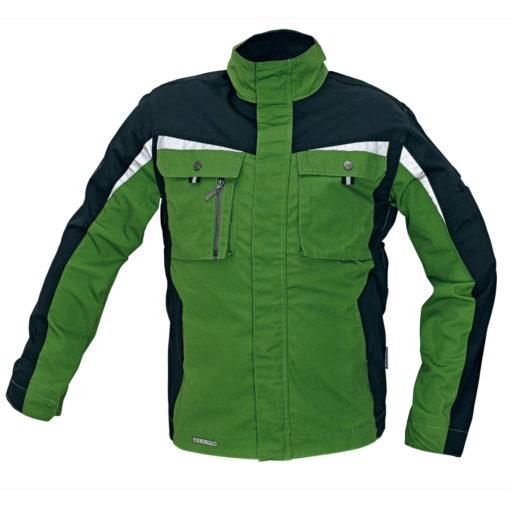 kurtka robocza allyn z odblaskami 3m do pracy ochronna. zielona czarna