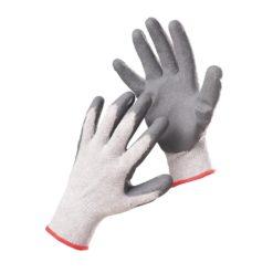 Rękawice robocze Babbler Light F&F Poliestrowe Powlekane Nitrylem szare niebieskie białe ochronne rękawice