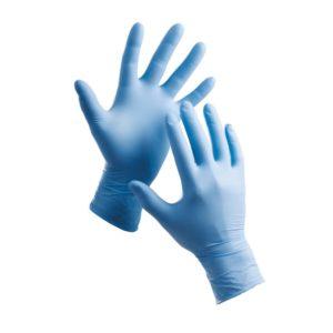 Rękawice jednorazowe Barbary Cerva Nitrylowe Pudrowane 100 sztuk