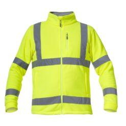 Bluza polarowa ostrzegawcza Lahti PRO L40109 Żółta odblaskowa wysokiej widoczności polar zapinany pasy odblaskowe