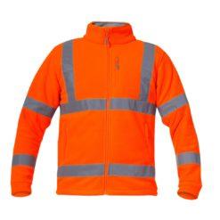 Bluza polarowa ostrzegawcza Lahti PRO L40110 Pomarańczowa odblaskowa wysokiej widoczności polar zapinany pasy odblaskowe