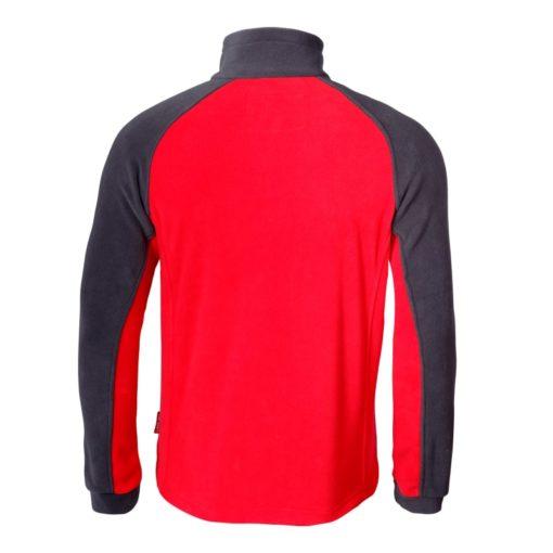 Bluza polarowa Lahti PRO LPBP czerwona ochronna polar czerwono-czarny tył