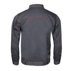 Robocza ochronna bluza Lahti PRO LPAB Allton bluza robocza ochronna bhp z pomarańczowymi szwami kołnierzyk do pracy ciuchy odzież robocza grafitowa z tyłu