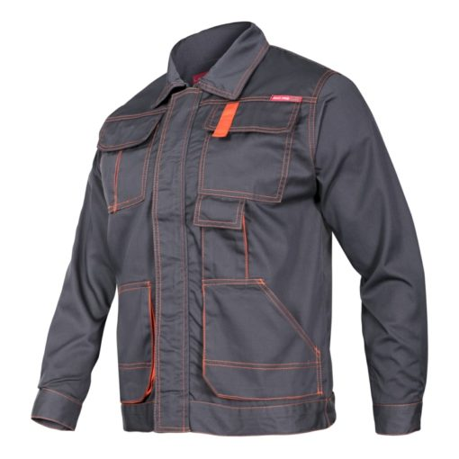 Robocza ochronna bluza Lahti PRO LPAB Allton bluza robocza ochronna bhp z pomarańczowymi szwami kołnierzyk do pracy ciuchy odzież robocza grafitowa