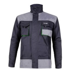Bluza robocza Lahti PRO L40407 ochronna bluza do pracy ze wzmocnieniami ciuchy robocze mocne z kieszeniami czarno szara przód