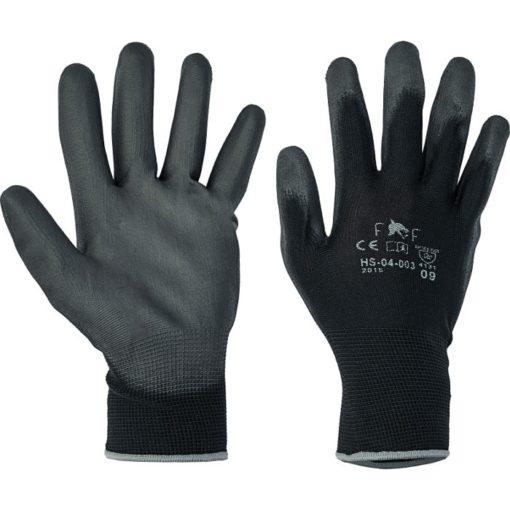 Rękawice robocze Bunting Light Cerva Manualne Powlekane PU czarne manualne elastyczny mankiet