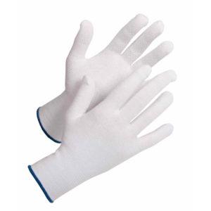 Rękawice nakrapiane Bustard EVO PVC Cerva Bez Silikonu białe ochronne powlekane rękawiczki
