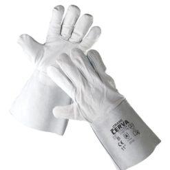 rękawice spawalnicze crane cerva robocze ochronne ze skóry bydlęcej dwoinowej wołowej szare