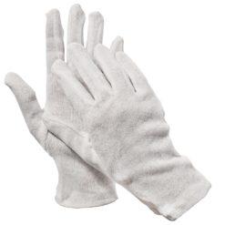 Rękawice bawełniane kite Cerva rozm. 8,10 bawełna poliester białe ochronne fourchette