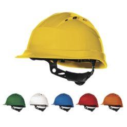 kask Hełm ochronny Quartz UP IV delta plus budowlany przemysłowy do pracy kask robotniczy bhp en397 atest ce zgodności