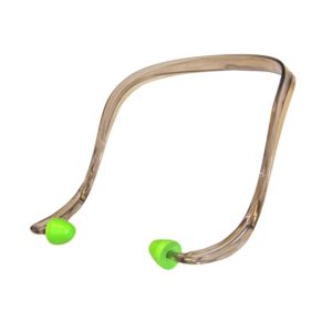Zatyczki ED Ear Defender Artiflex na kabłąku SRC 23 dB na kabłąku plastikowym zielone końcówki pałąk opaska