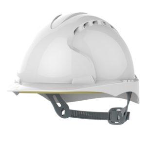 Kask hełm JSP evo2 biały hdpe z regulacją onetouch wentylowany dla kask budowlany dla kierownika budowy, kierownika robót inżyniera inspektora nadzoru budowlanego Kask hełm JSP evo3 biały przemysłowy