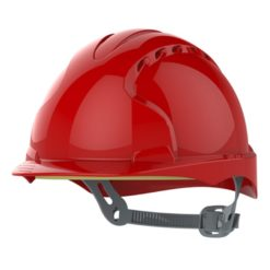 Kask hełm JSP evo2 czerwony hdpe z regulacją onetouch wentylowany dla kask budowlany dla gosci praktykantów Kask hełm JSP evo3 czerwony na budowę budowlany przemysłowy