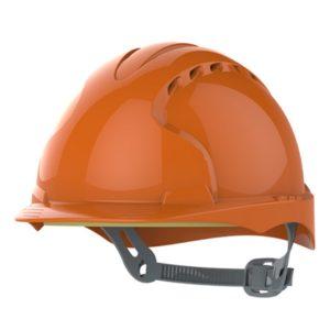 Kask hełm JSP evo2 pomarańczowy hdpe z regulacją onetouch wentylowany dla kask budowlany dla geodety Kask hełm JSP evo3 pomarańczowy przemysłowy