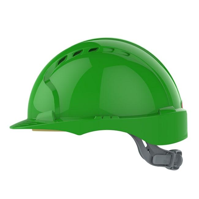 c2712e5ca125c3 ... Kask hełm JSP evo2 zielony hdpe z regulacją onetouch wentylowany dla  kask budowlany dla inspektora bhp ...
