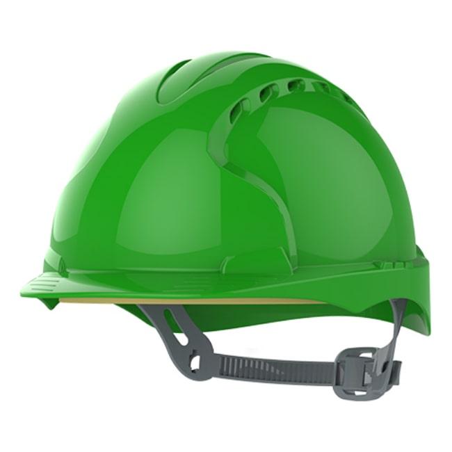 b718cc14b0f2e8 Kask Hełm Ochronny JSP Evo2 Zielony OneTouch EN 397