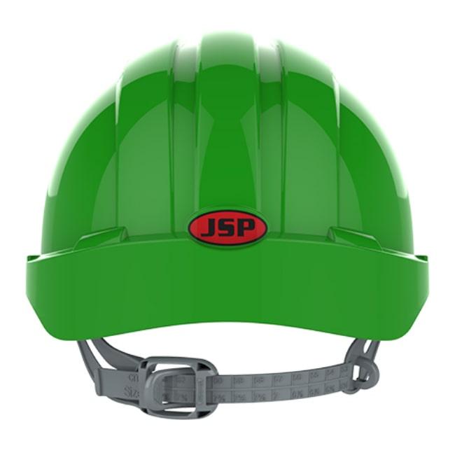 6b94f9c5bb0538 ... Kask hełm JSP evo2 zielony hdpe z regulacją onetouch wentylowany dla  kask budowlany dla inspektora bhp