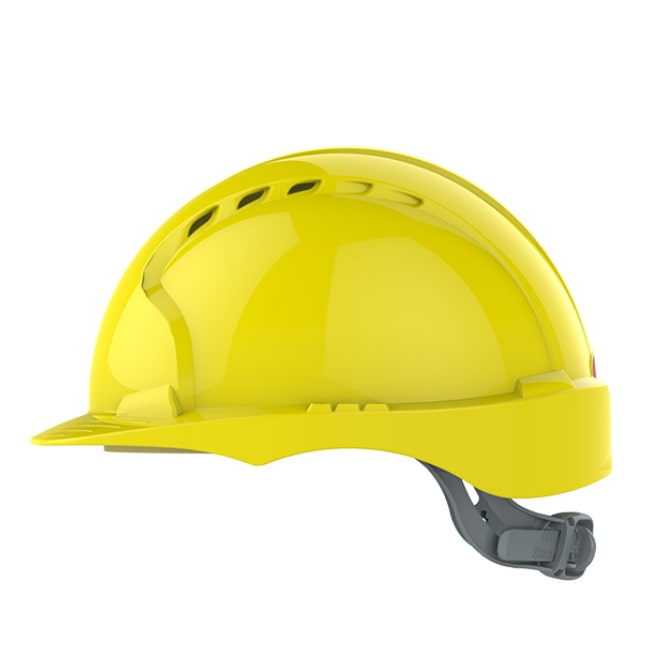 c7833a43dd9299 ... Kask hełm JSP evo2 żółty hdpe z regulacją onetouch wentylowany dla kask  budowlany dla pracowników fizycznych ...