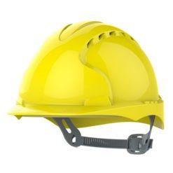 Kask hełm JSP evo2 żółty hdpe z regulacją onetouch wentylowany dla kask budowlany dla pracowników fizycznych Kask hełm JSP evo3 żółty przemysłowy