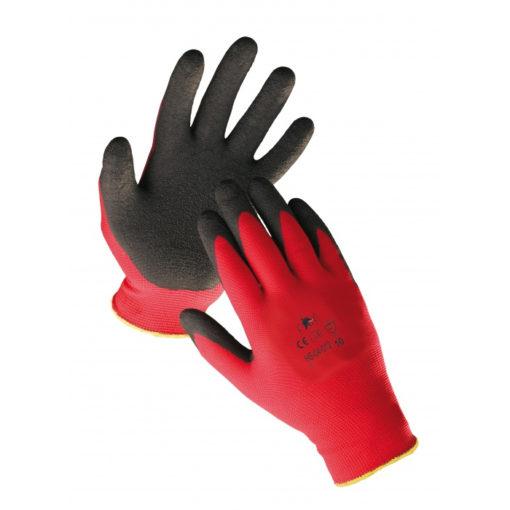 Rękawice robocze Firecrest Light poliester lateks guma powlekane robocze do pracy ochronne rękawiczki do roboty mocne czerwono czarne
