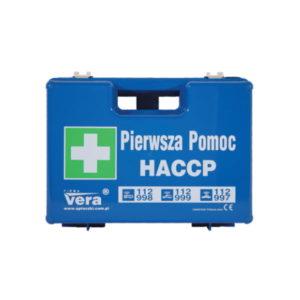 apteczka haccp apteczka pierwszej pomocy niebieska apteczka dla przemysłu spożywczego zakład produkcyjny spożywcza apteczka zestaw pierwszej pomocy przód