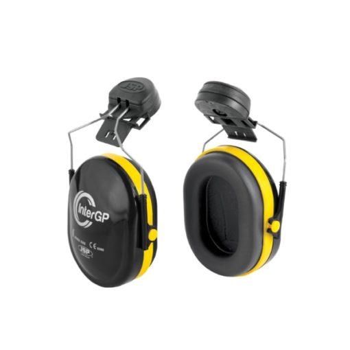 ochronniki słuchu inter gp do hełmów jsp nauszniki przeciwhałasowe ochronne czarno żółte symulacja