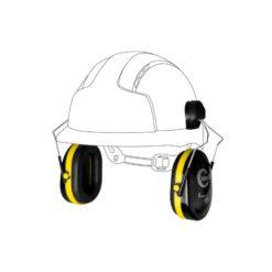 ochronniki słuchu inter gp do hełmów jsp nauszniki przeciwhałasowe ochronne czarno żółte na kasku
