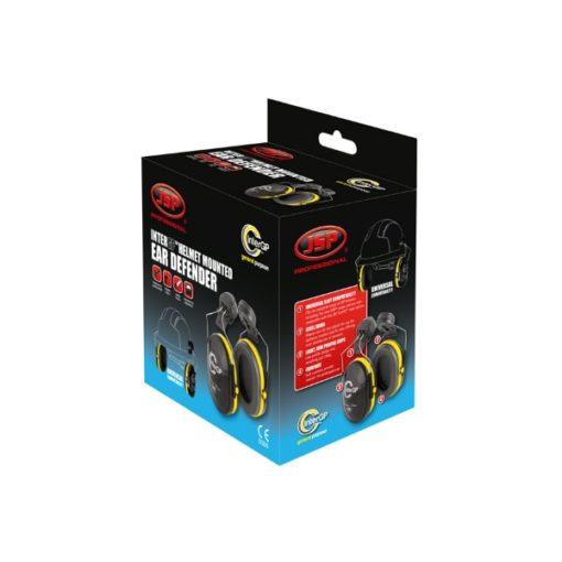 ochronniki słuchu inter gp do hełmów jsp nauszniki przeciwhałasowe ochronne czarno żółte pudełko