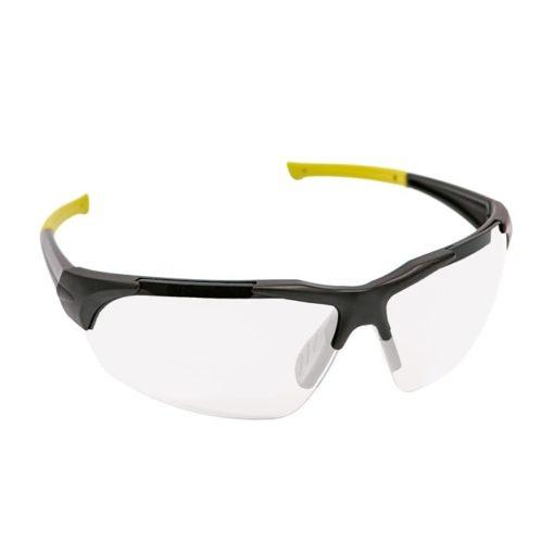 Okulary Ochronne Bezbarwne iSpector Halton f1 bezbarwne szkła z poliwęglanu czarno żółta ramka i ramiona