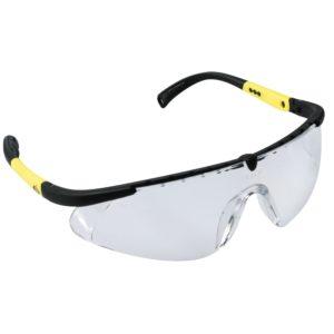 Okulary Ochronne iSpector Vernon F1 bezbarwne ramka czarna z żółtym paskiem