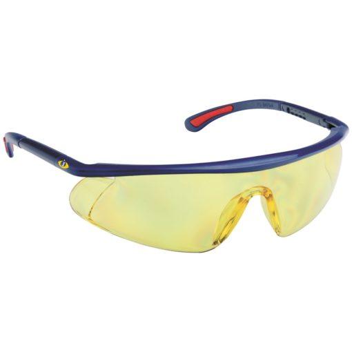 Okulary Ochronne iSpector Barden F1 żółte ramka granatowa z czerwonymi akcentami