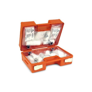 Apteczka Przemysłowa SwingMed K10 DIN 13164+ustnik apteczka pierwszej pomocy do zakładu pracy do biura do fabryki ustnik otwarta